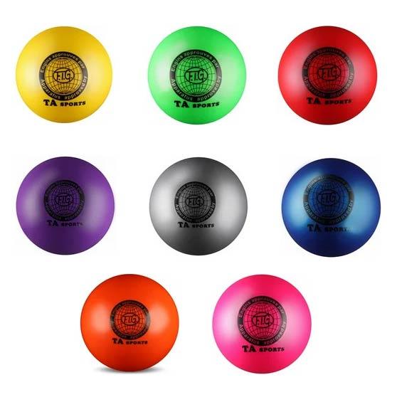Мяч для худ. гимнастики INDIGO I-2 19cм 400г металлик