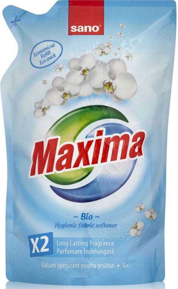 Sano Maxima Hygienic Fabric Softener Bio гигиенический смягчитель белья 5 в 1 запаска 1 л