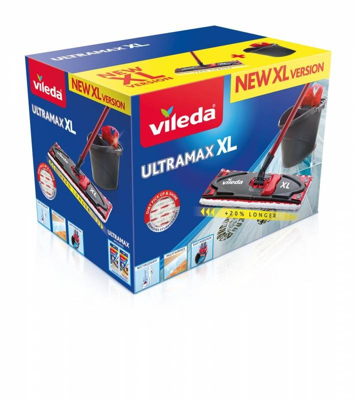 Набор Vileda Ultramat  XL (швабра с насадкой 42 см+ ведро)