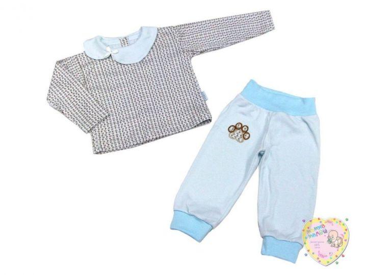 Костюм для девочки с вешалкой: кофта сзади застежка, штаны (интерлок-пенье)