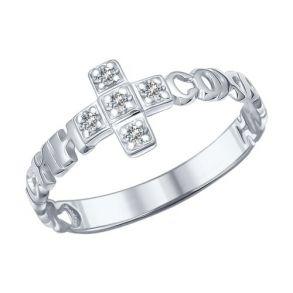 Кольцо из серебра с фианитами 94011892 SOKOLOV