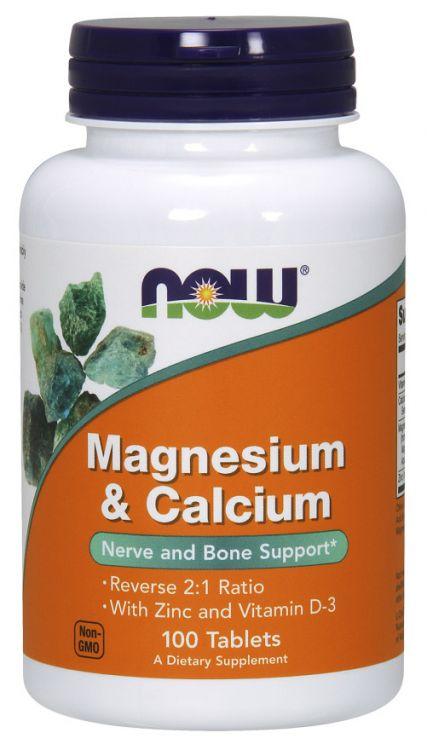 Magnesium и Calcium от NOW 100 таб