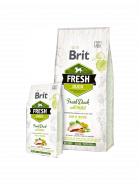 Brit Fresh Duck with Millet Active Run & Work Корм для активных собак, с уткой и пшеном. (12 кг)