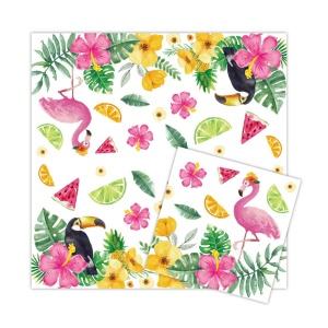 Салфетки Летнее Настроение с фламинго