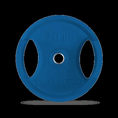 Диск олимпийский, 20 кг, синий, Turbogym