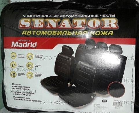 Чехлы универс SENATOR Madrid кожа (11 предм) серый M