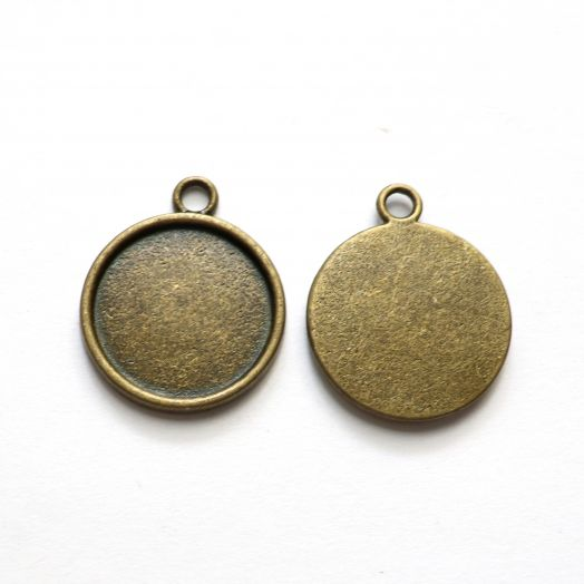 Рамка сеттинг, №17, старая бронза, 2 шт/упак