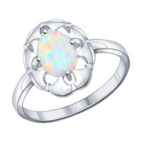 Кольцо из серебра с опалом 94011834 SOKOLOV