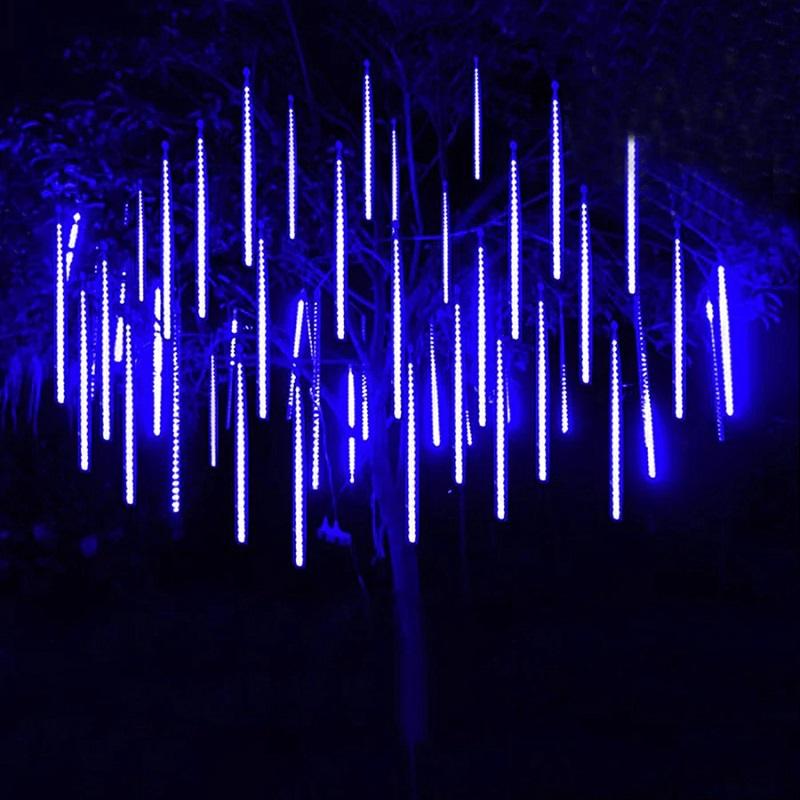 Светодиодная Гирлянда Тающие Сосульки, 8 Шт., Цвет Синий, Размер 30 См