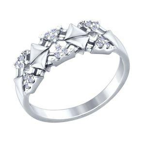 Кольцо из серебра с фианитами 94012251 SOKOLOV