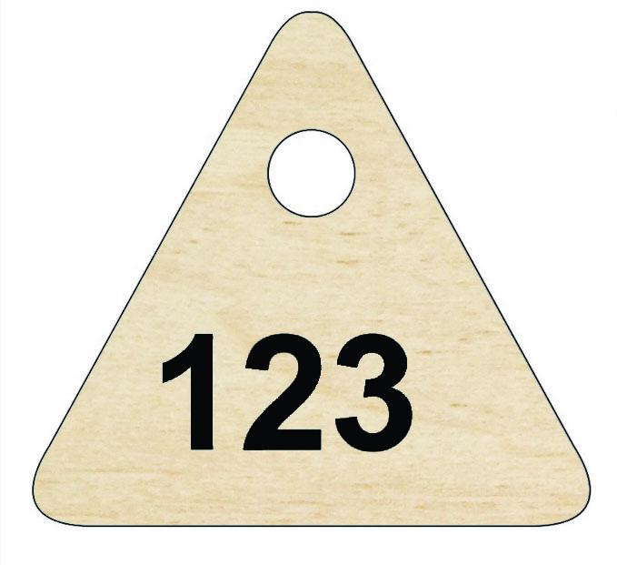 Номерок в гардероб треугольный