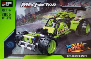 Конструктор  DECOOL Technic MecFactor Гоночный болид 3805 (Аналог LEGO Technic) 301 дет