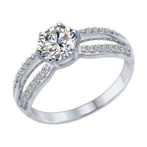 Кольцо из серебра с фианитами 94012345 SOKOLOV