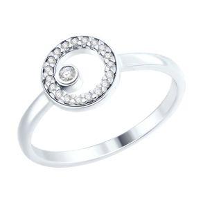Кольцо из серебра с фианитами 94012450 SOKOLOV