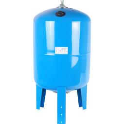 Расширительный бак 100 л., гидроаккумулятор вертикальный (цвет синий)