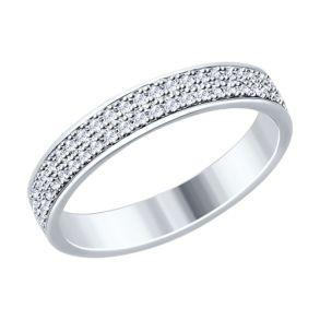 Кольцо из серебра с фианитами 94012529 SOKOLOV