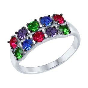 Кольцо с кристаллами Swarovski 94012574 SOKOLOV