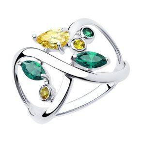 Кольцо из серебра с фианитами 94013033 SOKOLOV
