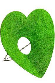 Каркас для букета Сердце d 25 см. /цвет 'зелёное яблоко'/