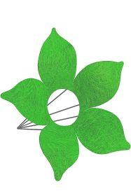 Каркас для букета Цветок d 25 см. /цвет 'зелёное яблоко'/
