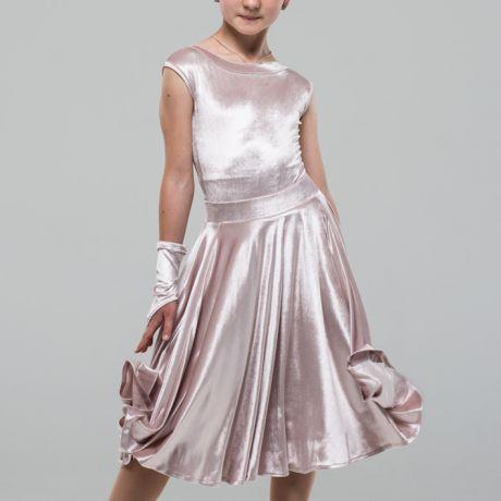 платье для танцев светлое