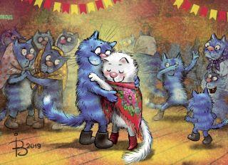Почтовая открытка Танцы