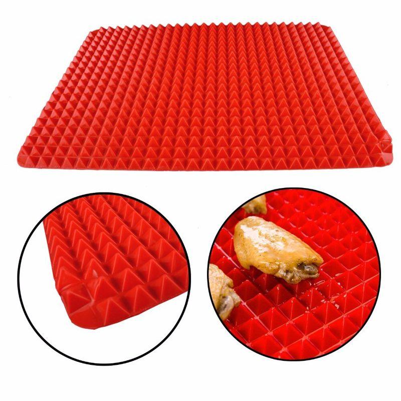 Силиконовый коврик PYRAMID PAN (ПИРАМИД ПАН), цвет красный