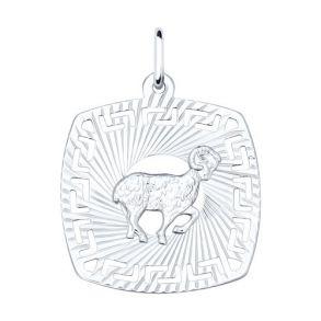 Подвеска «Знак зодиака Овен» из серебра 94030858 SOKOLOV