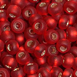 Бисер чешский 97070М бордовый прозрачный матовый серебряная середина Preciosa 1 сорт