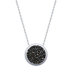 Колье с чёрными кристаллами Swarovski 94070119 SOKOLOV
