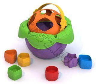 Логическая игрушка Ведро Цветочек