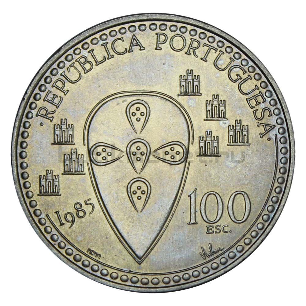 100 эскудо 1985 Португалия 800 лет со дня смерти Короля Альфонсо Энрике