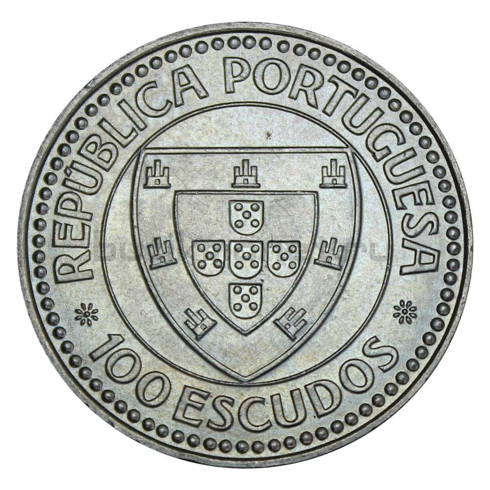 100 эскудо 1987 Португалия Жил Эанеш (Золотой век открытий)