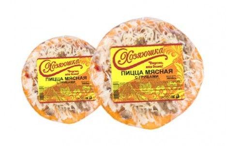 Пицца Мясная с грибами 150г Хозяюшка