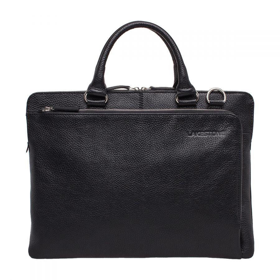 Кожаная деловая сумка Lakestone Albert Black