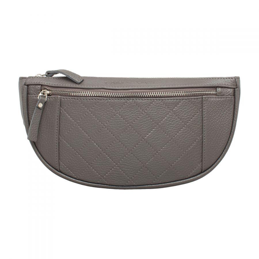 Кожаная поясная сумка Lakestone Nevil Grey