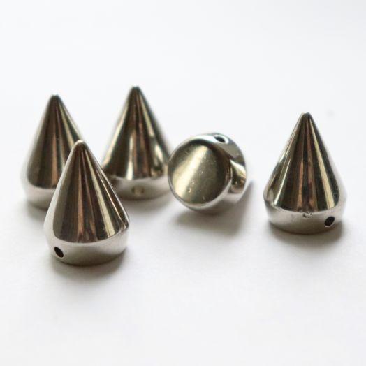 Шипы декоративные, пришивные, 2 см, Светлое серебро, 5 шт/упак