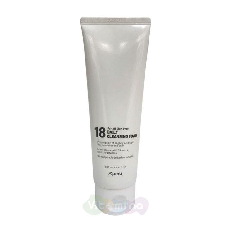 A'Pieu Очищающая пенка для молодой кожи 18 Daily Cleansing Foam, 130 мл