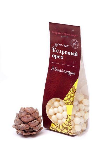 Кедровый орех в белой шоколадной глазури 100г