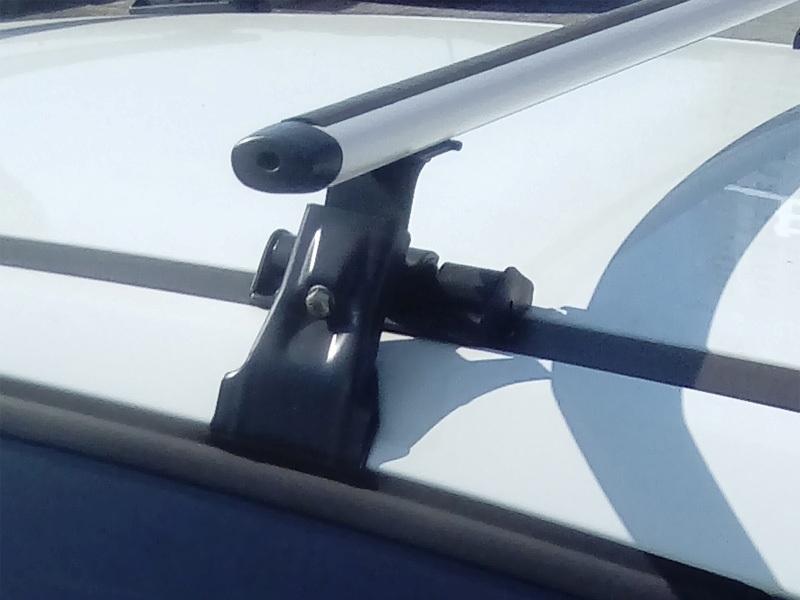 Универсальный багажник на крышу Lada XRay, Евродеталь, вид А, аэродинамические дуги