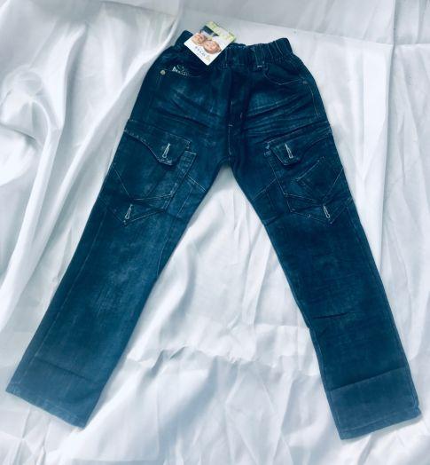 Подростковые джинсы синие