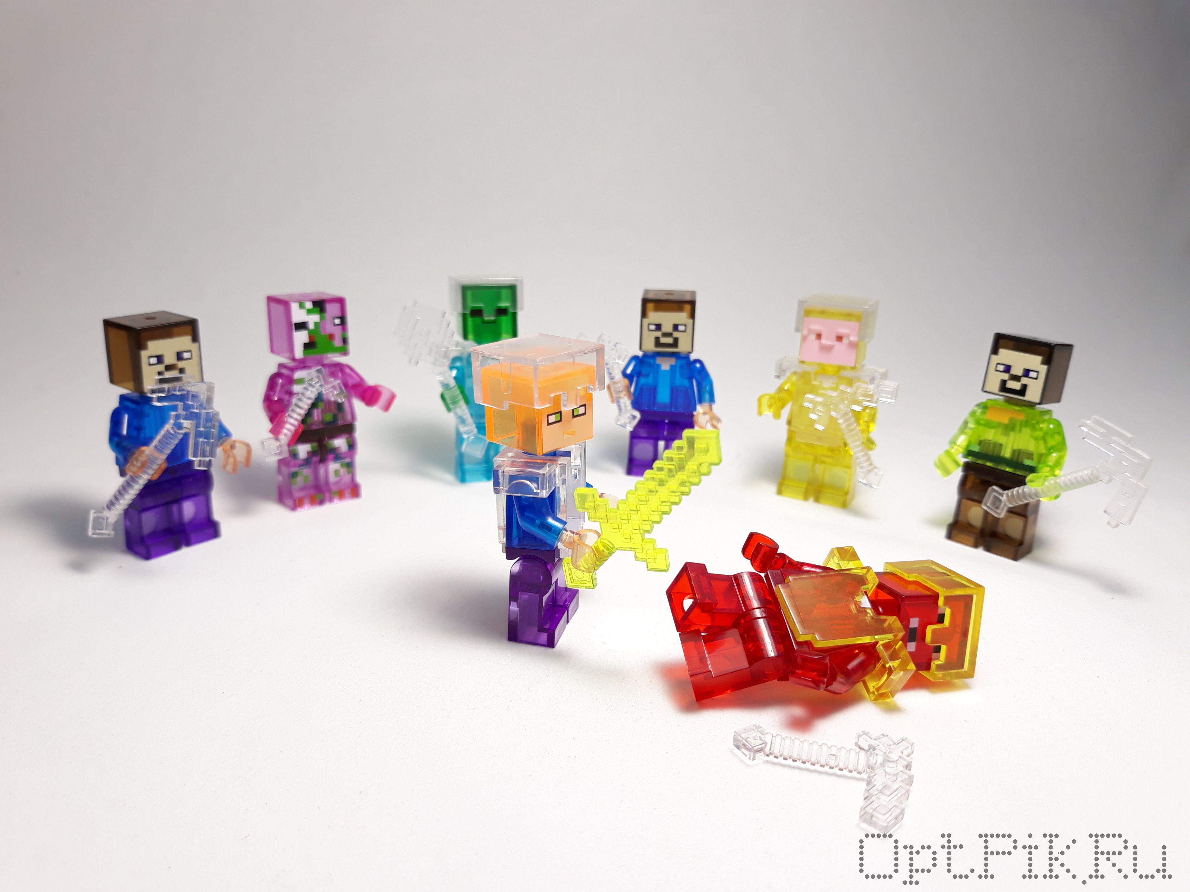 Шарик-сюрприз Кристальный Майнкрафт Minecraft 2 героя