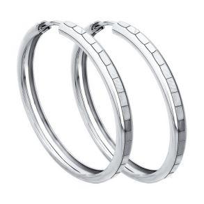 Серьги конго из серебра с алмазной гранью 94140065 SOKOLOV