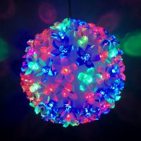 Эксклюзивный светодиодный LED шар с лампами в виде цветов Led Light. 100 ламп.