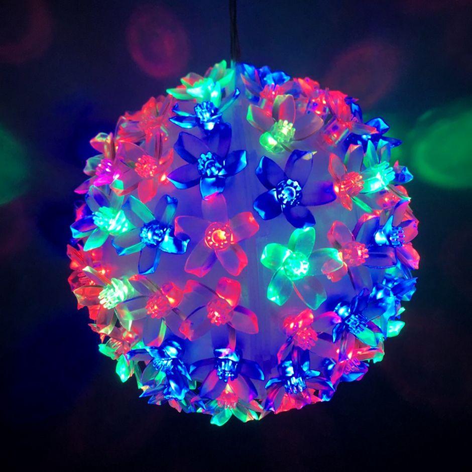 Эксклюзивный светодиодный LED шар с лампами в виде цветов Led Light. 200 ламп.