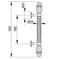 Ручка-скоба Mestre 0N4764.N. Длина 340 мм. схема