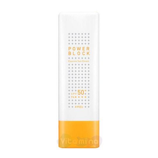 A'Pieu Солнцезащитный крем-эссенция Power Block Essence Sun Cream SPF50+/ PA++++, 50 мл