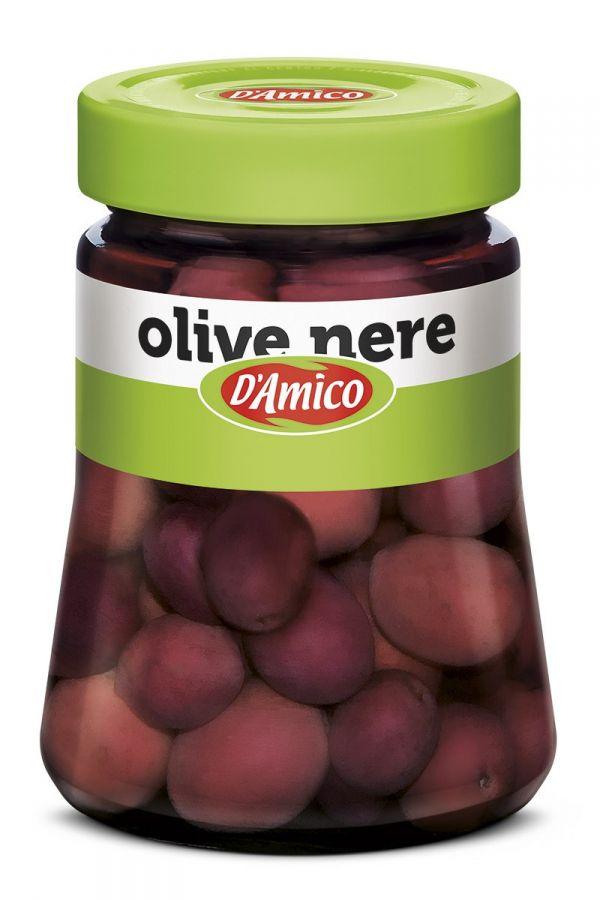 Оливки черные в рассоле 300 г, Olive nere salamoia D'Amico 300 gr
