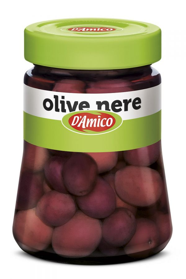 Оливки черные в рассоле 300 гр., Olive nere salamoia D'Amico 300 gr.