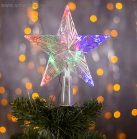 Украшение Звезда Прозрачная ёлочная гирлянда 16Х16 см светящаяся